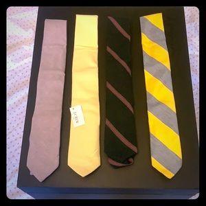 BUNDLE: J Crew - mix of 4 ties.